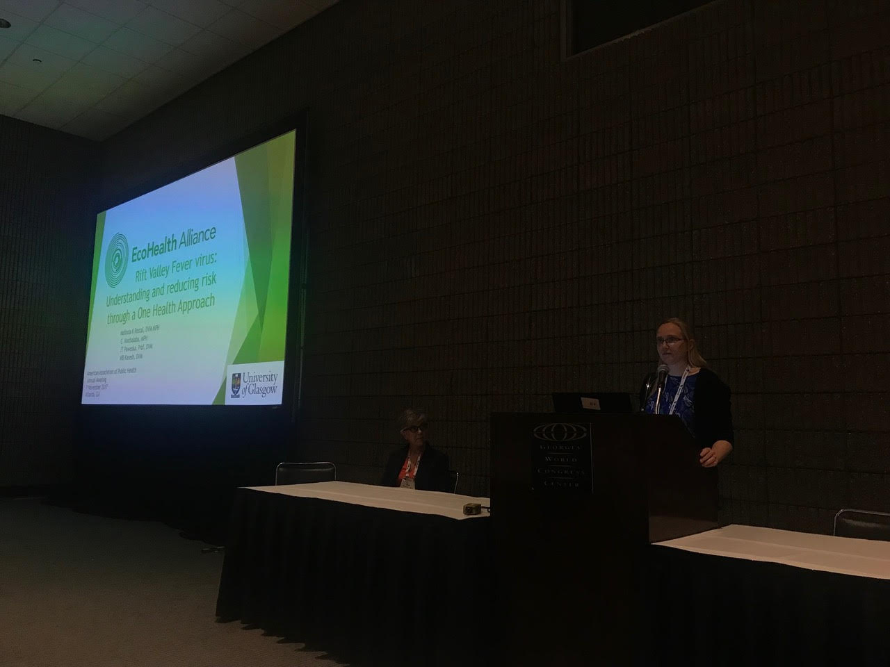 Dr. Melinda Rostal presents at the annual APHA meeting
